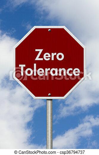 tolerancja, zero, zatrzymajcie znaczą - csp36794737