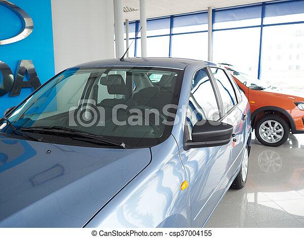 "TOLYATTI RUSSIA - MART 6 2016: Car centre ""Lada"".  - csp37004155"
