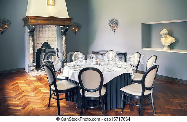 tom, lyxvara, bord, rum - csp15717664