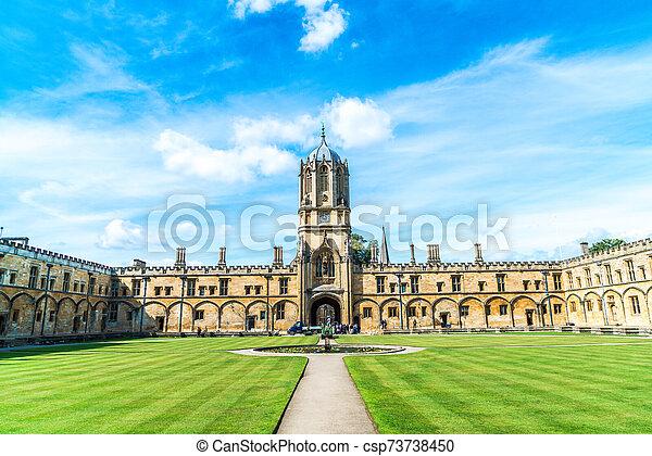 tom, oxford, cristo, arquitectura, torre, universidad, hermoso, iglesia - csp73738450