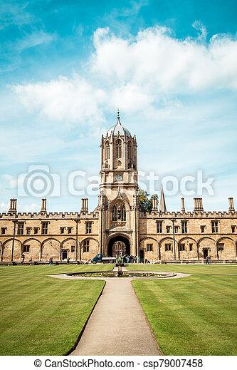 tom, torre, oxford, cristo, universidad, hermoso, iglesia, arquitectura - csp79007458
