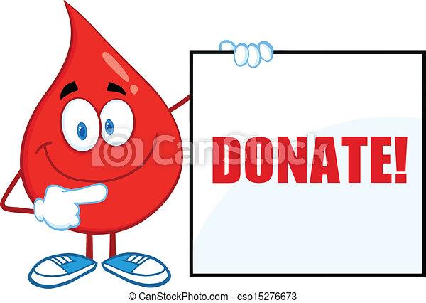 tom, visande, droppe, blod, underteckna - csp15276673