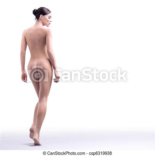 toma, baño, maravilloso, belleza, hembra - csp6319938