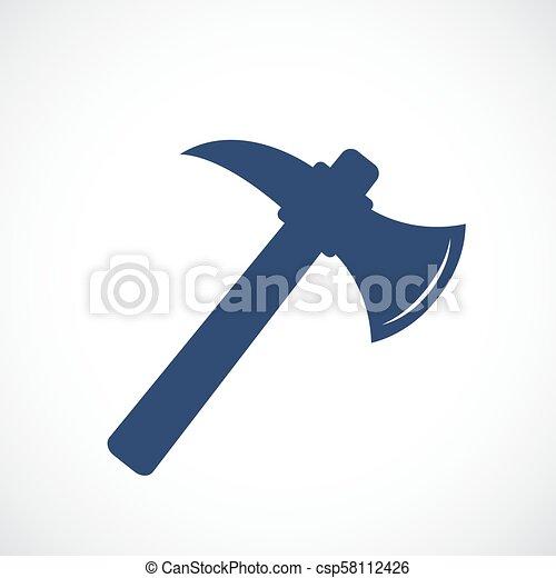 tomahawk, vecteur, icône - csp58112426