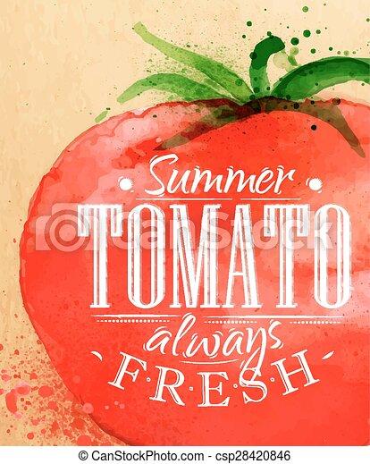 tomate, cartel - csp28420846