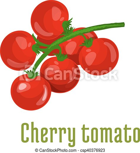Tomate Cerise Legume Icone Tomate Produit Autocollant