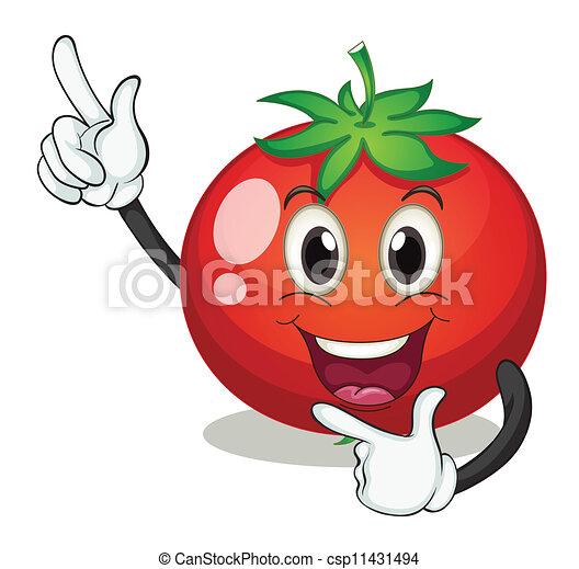 Tomate fond blanc illustration - Tomate dessin ...