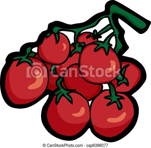 Tomates Cerises Entiers Mure Cerise Tige Tomates Rouges