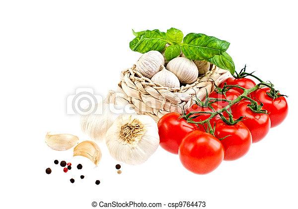 tomates, garlic. - csp9764473
