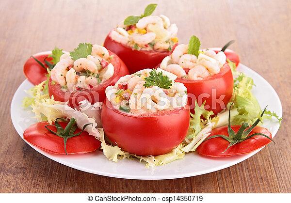 tomato appetizer with shrimp - csp14350719