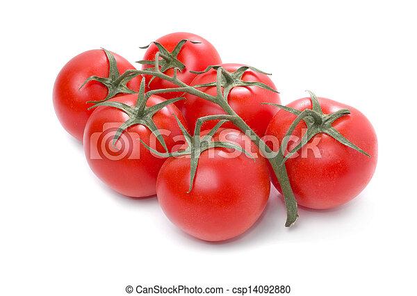 Tomato isolated on white background. - csp14092880