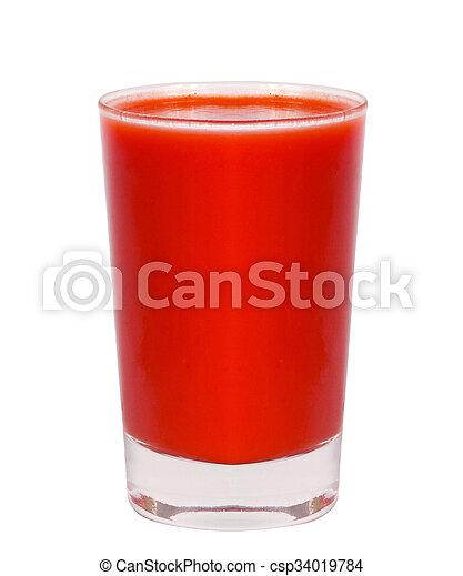 tomato juice glass - csp34019784