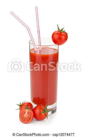 Tomato juice in a glass - csp12074477