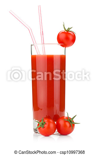 Tomato juice in a glass - csp10997368
