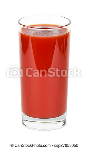 Tomato juice in a glass - csp27855050