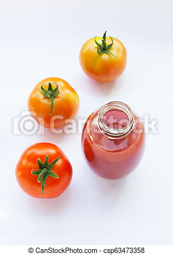 Tomato juice in a glass - csp63473358