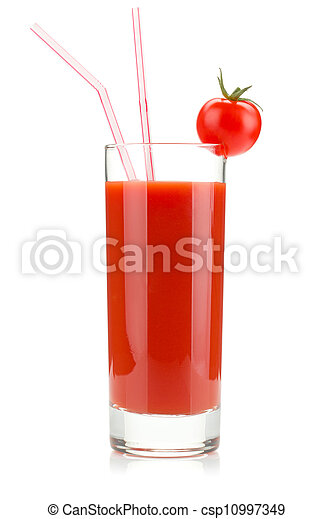 Tomato juice in a glass - csp10997349