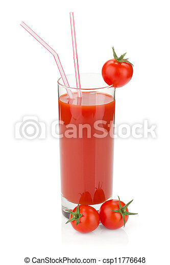 Tomato juice in a glass - csp11776648