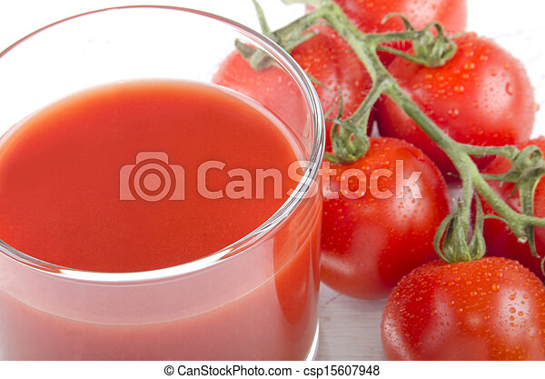 tomato juice in a glass - csp15607948