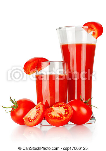 Tomato juice in a glass - csp17066125