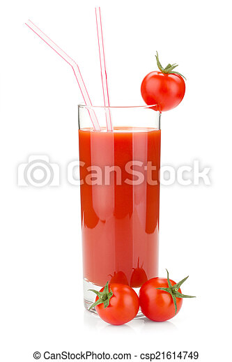 Tomato juice in a glass - csp21614749