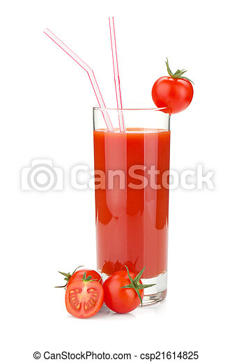 Tomato juice in a glass - csp21614825
