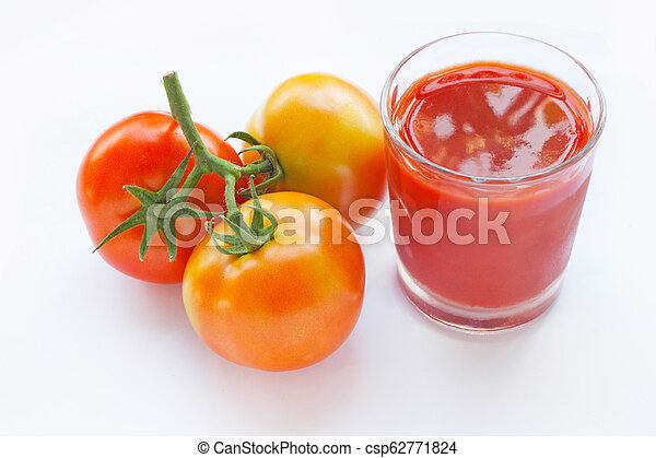Tomato juice in a glass - csp62771824