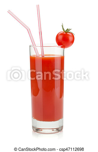 Tomato juice in a glass - csp47112698