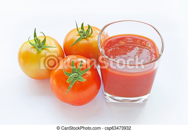 Tomato juice in a glass - csp63473932