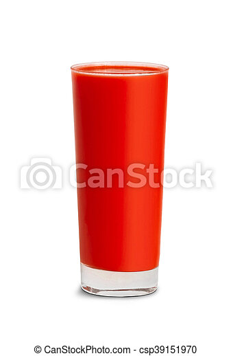 tomato juice in glass isolated - csp39151970