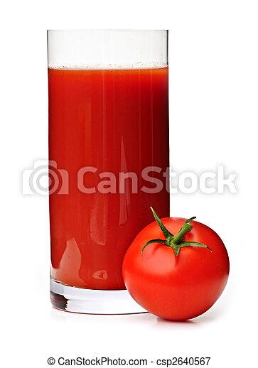 Tomato juice in glass - csp2640567