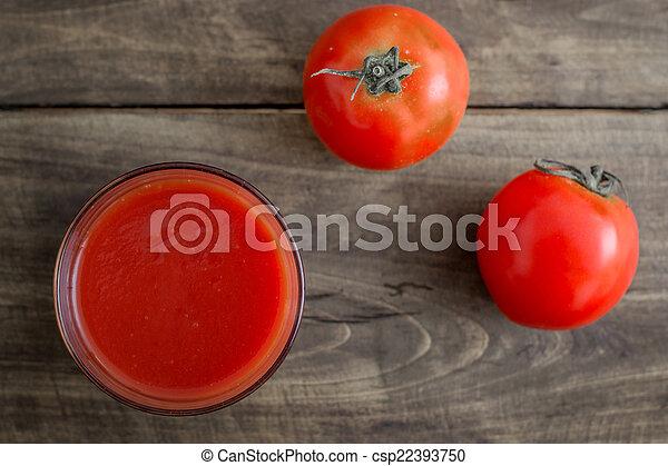 Tomato juice in glass - csp22393750
