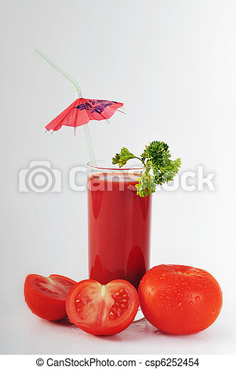 tomato juice in glass - csp6252454