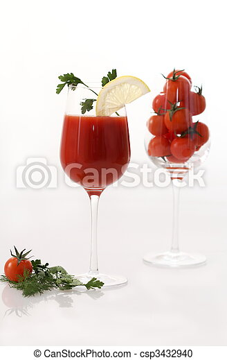 Tomato juice in the glass - csp3432940