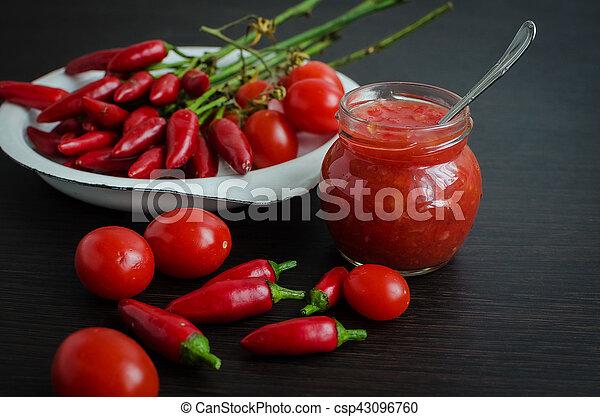Tomato ketchup hot sauce - csp43096760