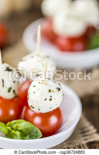 Tomato Mozzarella Salad with Basil - csp36724883