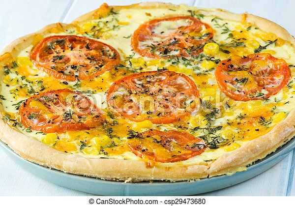 Tomato pie. - csp29473680