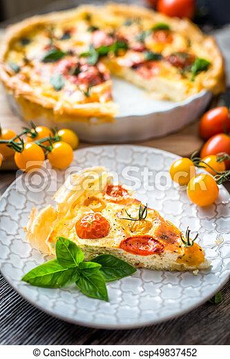 Tomato pie - csp49837452