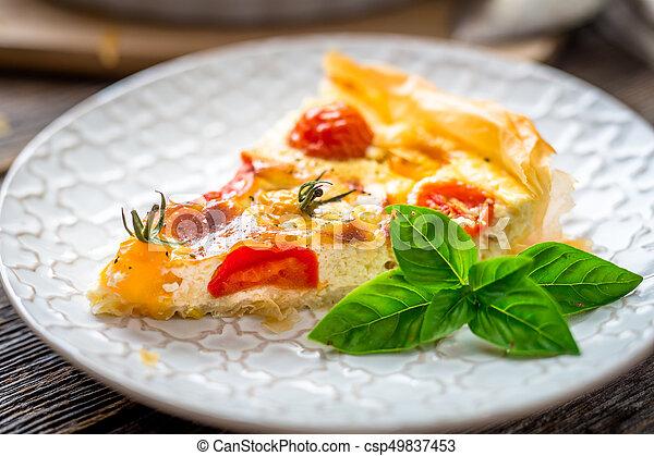 Tomato pie - csp49837453