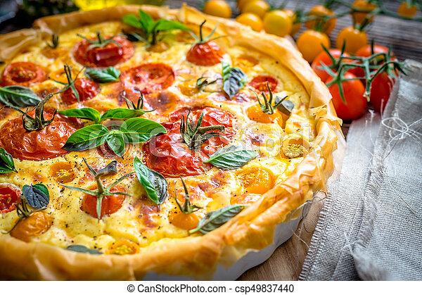 Tomato pie - csp49837440