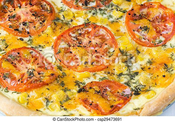 Tomato pie. - csp29473691