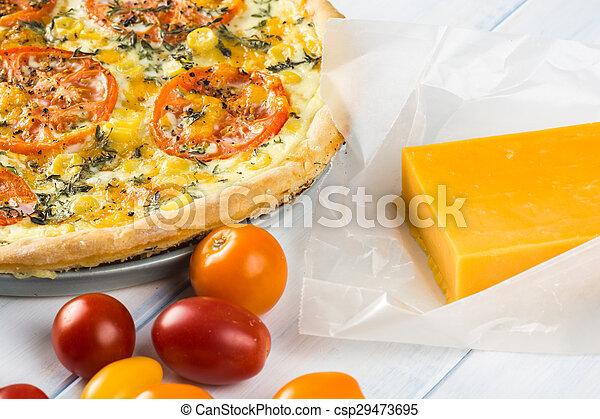 Tomato pie. - csp29473695