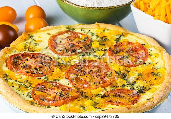 Tomato pie. - csp29473705
