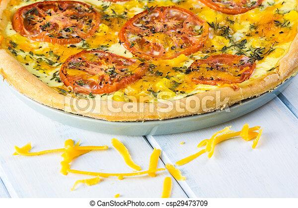Tomato pie. - csp29473709