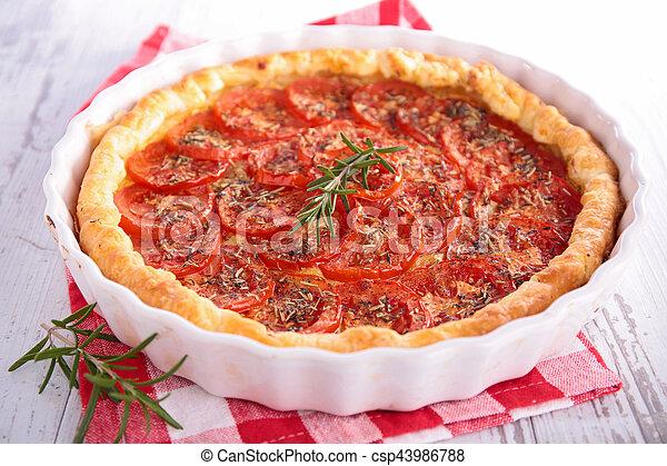 tomato quiche - csp43986788