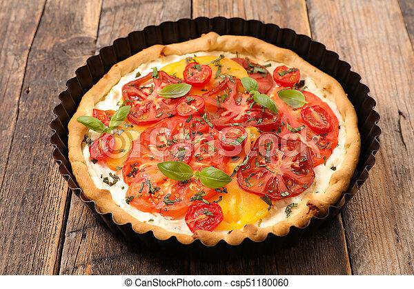 tomato quiche - csp51180060