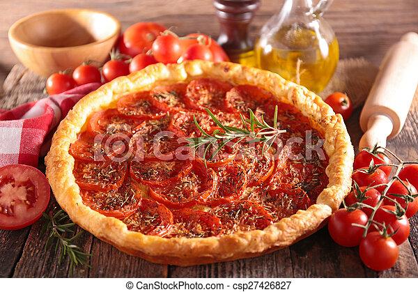 tomato quiche - csp27426827