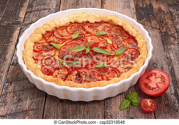 tomato quiche - csp32319548