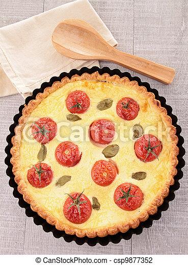 tomato quiche - csp9877352