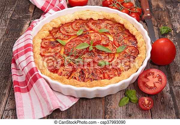 tomato quiche - csp37993090